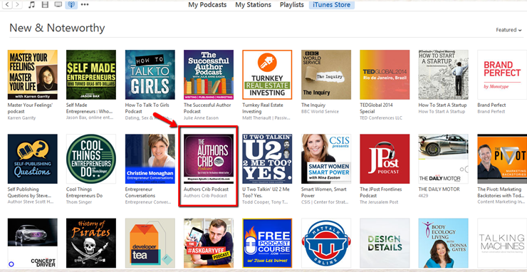 My Authors Crib Podcast Made It To The New and Noteworthy weeks after launching it
